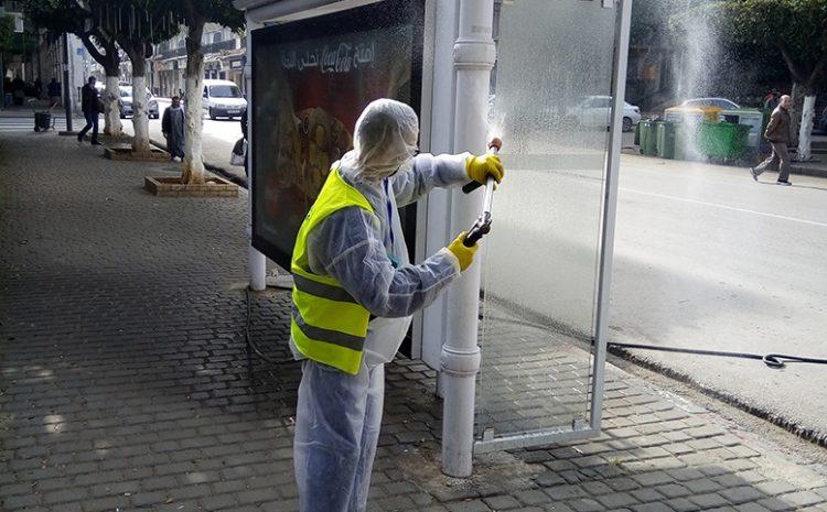 les opérations de desinfections au niveau de Bab El Ouad