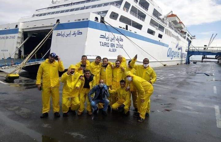 opérations de désinfection anti coronavirus au niveaux du port d'Alger