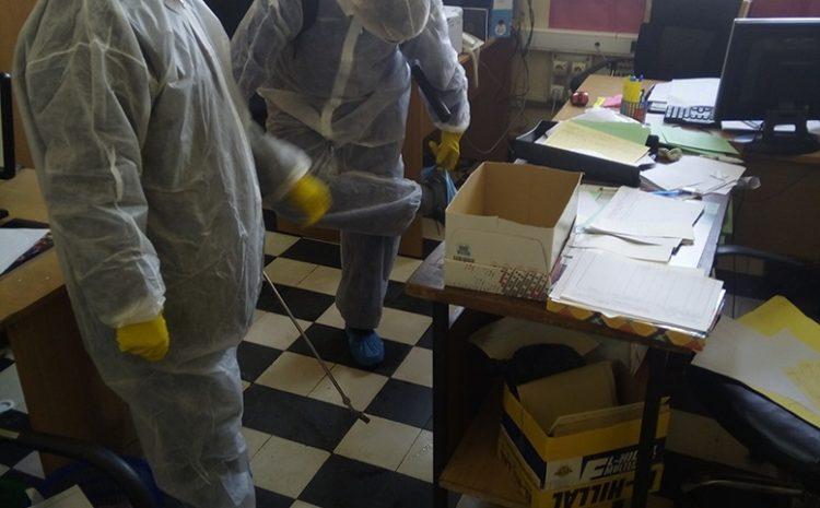 les opérations de desinfections au niveau de l' APC Sidi M'Hamed le 19/03/2020