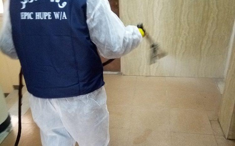 les opérations de desinfections au niveau d'el mouradia 20/03/2020