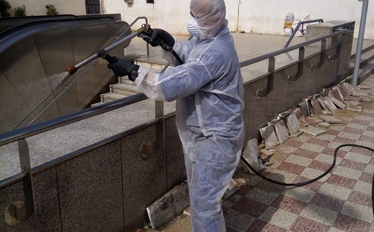 les opérations de desinfections au niveau de hussein dey le 20/03/2020