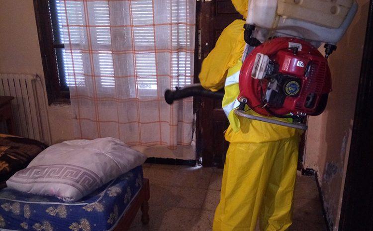les opérations de desinfections au niveau de dar errahma birkhadem 24/03/2020
