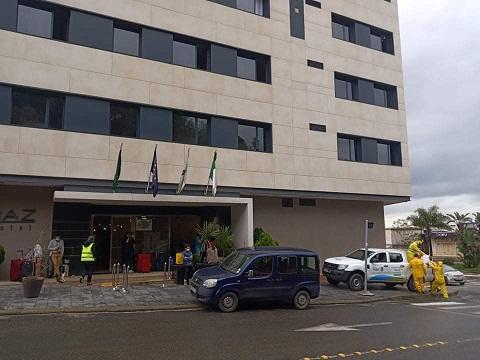 Opération de désinfection à l'hôtel Lamaraz sis a Hussein dey le 26/04/2020