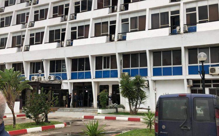 Opération de désinfection a été effectué hier 19/04/2020 au niveau de l'hôtel de l'aéroport d'Alger