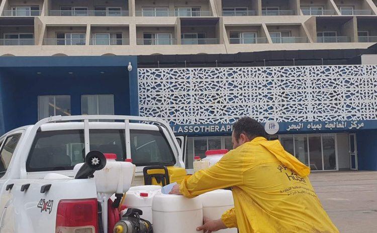 le Centre THALASSOTHÉRAPIE de Sidi Fredj de la commune de Staouéli a été désinfecte ce matin par nos équipes  19/04/2020