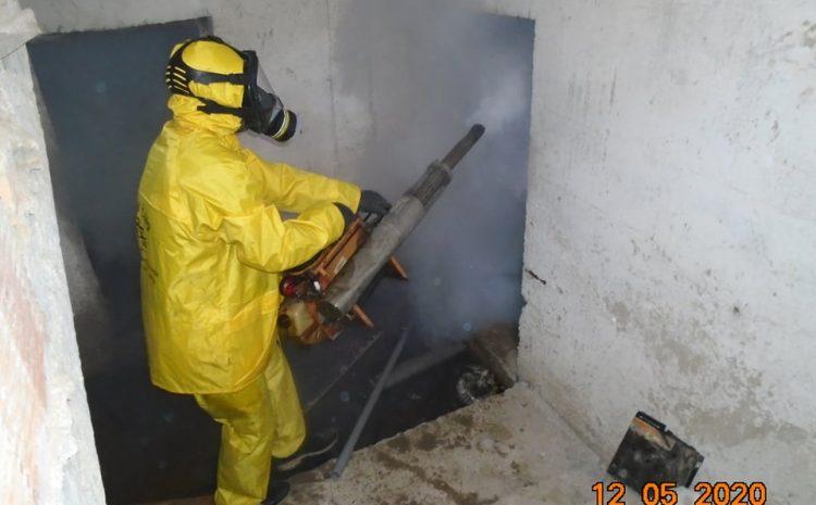 عملية تطهير الاقبية ببلدية رويبة  12/05/2020