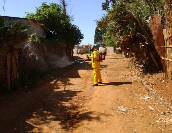 Opération de désinfection   au niveau de la commune de Zelada le 19/05/2020