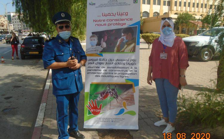 تواصل الحملات التحسيسية ضد وباء كورونا فيروس و بعوض النمر الأسيوي