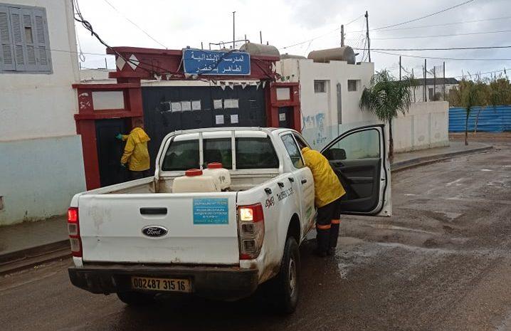 opération de désinfection au niveau des communes zeralda et staoueli le 23/01/2021