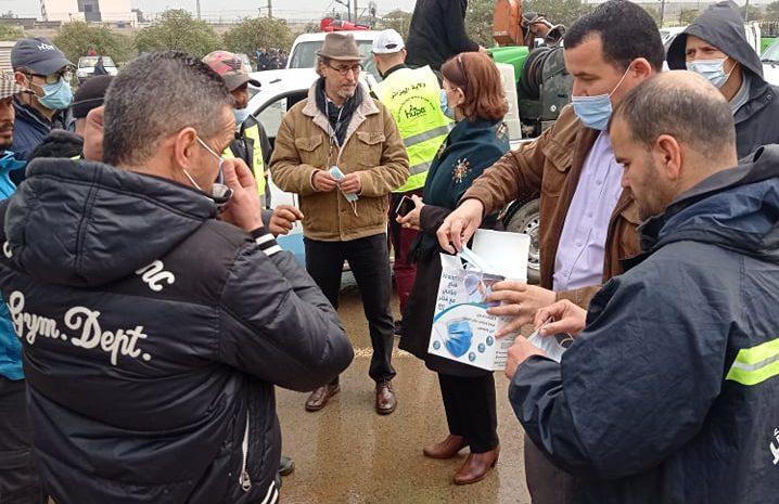 opération de désinfection d'envergure le 06/03/2021 au niveau de la ca de sidi abdellah