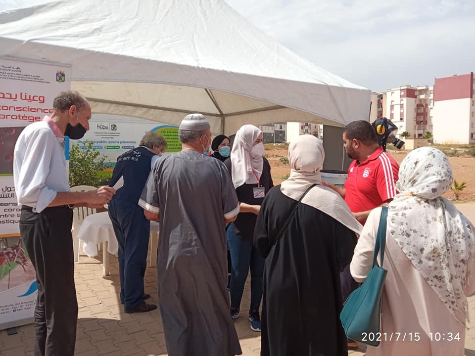 حملة تحسيسية توعوية على مستوى المقاطعة الادارية لسيدي عبد الله حول الوقاية من فيروس كورونا و الحد من انتشار باعوض النمر