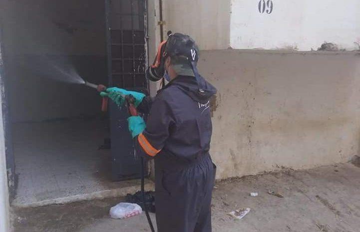 عملية تعقيم على مستوى بلدية واد قريش من طرف وحدة واد قريش لمكافحة نواقل الأمراض