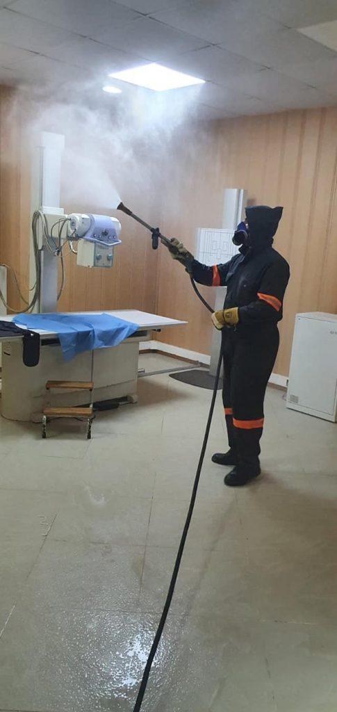 عملية تعقيم عيادة المتعددة الخدمات لبلدية زرالدة يوم 14 جويلية في إطار مكافحة فيروس كورونا
