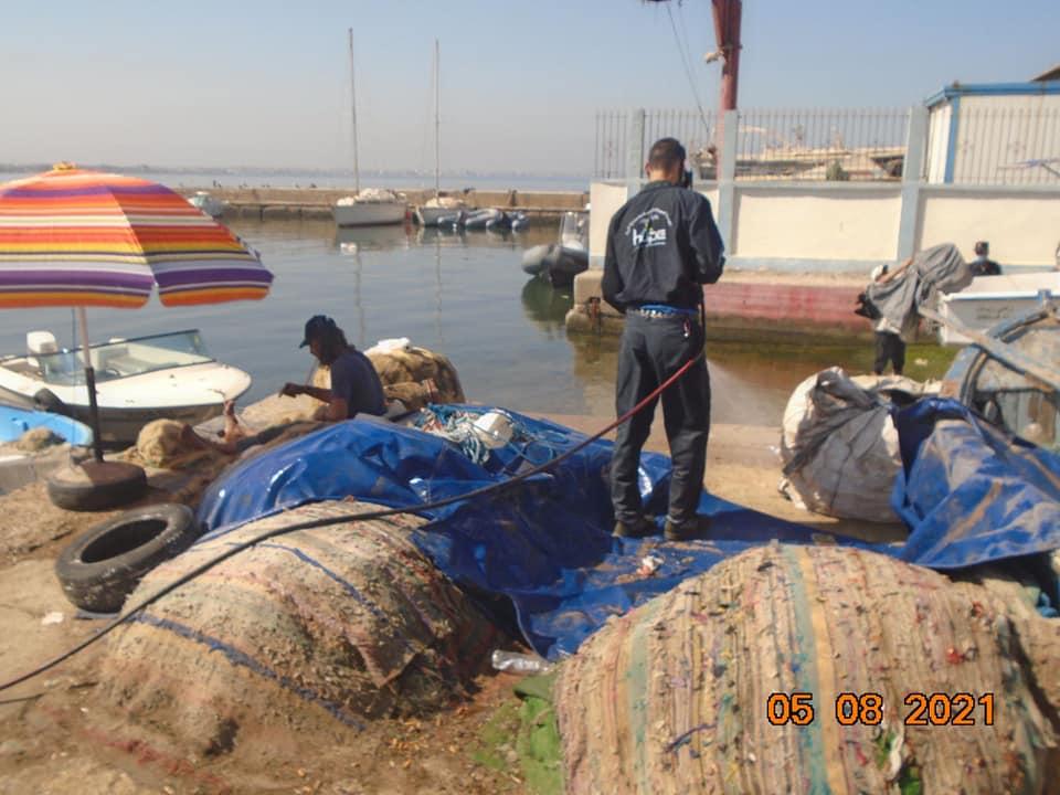 عمليات تعقيم على مست الموانئ الاربعة لولاية الجزائر