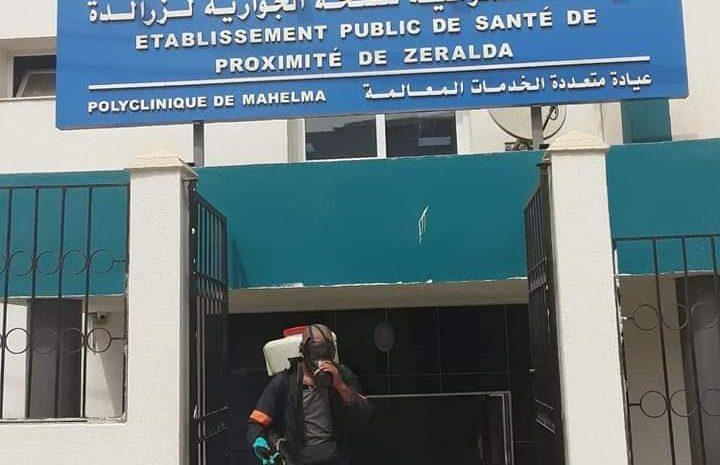 عملية تعقيم لجميع المواقع المخصصة للتلقيح ضد فيروس كورونا بإقليم المقاطعة الادارية لسيدي عبد الله